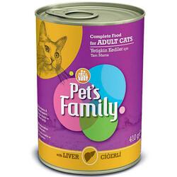 Pets Family - Pets Family Liver Ciğerli Kedi Konservesi 410 Gr