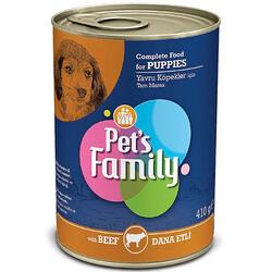 Pets Family - Pets Family Puppy Beef Dana Etli Yavru Köpek Konservesi 410 Gr