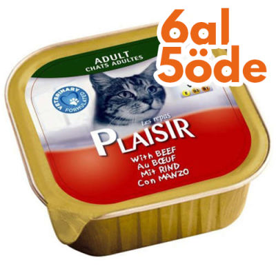 Plaisir Biftek (Sığır) Etli Pate Yetişkin Kedi Yaş Maması 100 Gr-6 Al 5 Öde