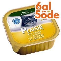 Plaisir - Plaisir Hindi Etli Pate Yetişkin Kedi Yaş Maması 100 Gr-6 Al 5 Öde