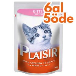 Plaisir - Plaisir Pouch Kitten Soslu Tavuk Parçalı Yavru Kedi Yaş Maması 100 Gr-6 Al 5 Öde