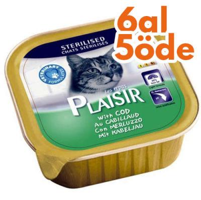 Plaisir Sterilised Morina Balıklı Pate Kedi Yaş Maması 100 Gr-6 Al 5 Öde