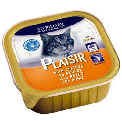 Plaisir Sterilised Tavuk Etli Pate Kısırlaştırılmış Kedi Yaş Maması 100 Gr