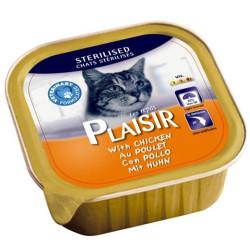 Plaisir - Plaisir Sterilised Tavuk Etli Pate Kısırlaştırılmış Kedi Yaş Maması 100 Gr