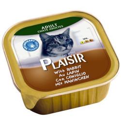 Plaisir - Plaisir Tavşan Etli Pate Yetişkin Kedi Yaş Maması 100 Gr