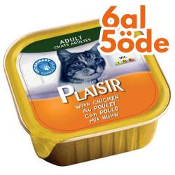 Plaisir - Plaisir Tavuk Etli Pate Yetişkin Kedi Yaş Maması 100 Gr-6 Al 5 Öde