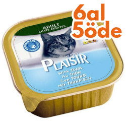 Plaisir - Plaisir Ton Balıklı Pate Yetişkin Kedi Yaş Maması 100 Gr-6 Al 5 Öde