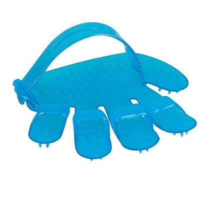 Polo 6825 Mavi Plastik Tımar Eldiveni 11.5 x 12 Cm ( Küçük )