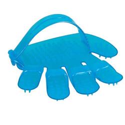 Polo - Polo 6825 Mavi Plastik Tımar Eldiveni 11.5x12 Cm (Küçük)