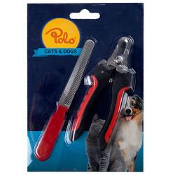 Polo - Polo 6830 Köpek Tırnak Makası ve Törpü Seti ( 16,5 x 5 Cm )