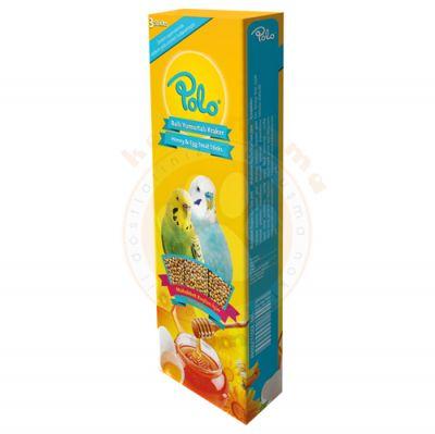 Polo Ballı Yumurtalı Muhabbet Kuşu Krakeri 3lü Paket (95 Gr)