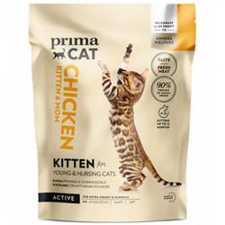Prima Cat - PrimaCat Kitten Tavuk Etli Anne ve Yavrusu için Glutensiz Kedi Maması 400 Gr