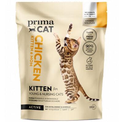PrimaCat Kitten Tavuk Etli Anne ve Yavrusu için Glutensiz Kedi Maması 400 Gr