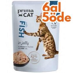 Prima Cat - PrimaCat Pouch Classic Jöle İçinde Balıklı Tahılsız Kedi Yaş Maması 85 Gr - 6 Al 5 Öde