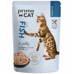 Prima Cat - PrimaCat Pouch Classic Jöle İçinde Balıklı Tahılsız Kedi Yaş Maması 85 Gr