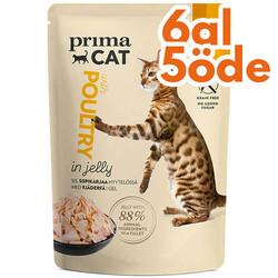 Prima Cat - PrimaCat Pouch Classic Jöle İçinde Kümes Hayvanlı Tahılsız Kedi Yaş Maması 85 Gr - 6 Al 5 Öde