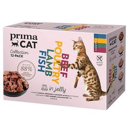 Prima Cat - PrimaCat Pouch Classic MultiPack Jöle İçinde Tahılsız Kedi Yaş Maması ( 12 Adet x 85 Gr )