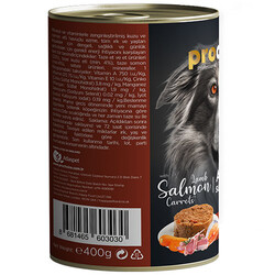 Pro Choice Kuzu, Somon ve Havuçlu Tahılsız Köpek Konservesi 400 Gr - Thumbnail