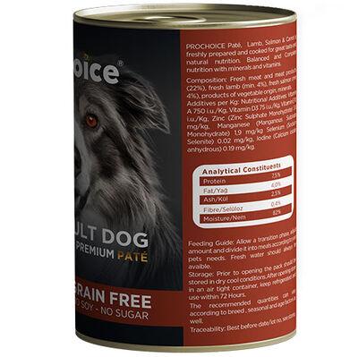 Pro Choice Kuzu, Somon ve Havuçlu Tahılsız Köpek Konservesi 400 Gr