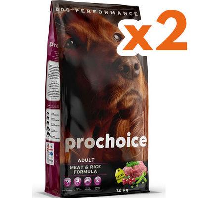 Pro Choice Meat Etli Köpek Maması 12 Kgx2 Adet