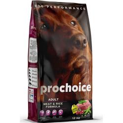 Pro Choice - Pro Choice Meat Etli Köpek Maması 12 Kg+10 Adet Temizlik Mendili