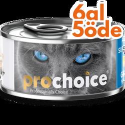 Pro Choice - Pro Choice Pate Sardalya ve Hamsili Tahılsız Ezme Kedi Konservesi 80 Gr - 6 Al 5 Öde