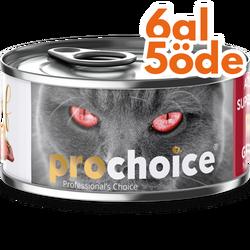 Pro Choice - Pro Choice Pate Beef Biftekli Tahılsız Ezme Kedi Konservesi 80 Gr - 6 Al 5 Öde