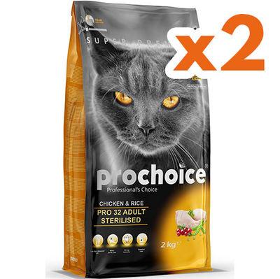 Pro Choice Pro32 Sterilised Kısırlaştırılmış Tavuklu Kedi Maması 2 Kg x 2 Adet