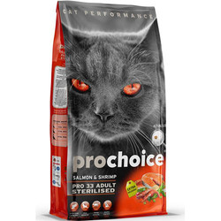 Pro Choice - Pro Choice Pro33 Kısırlaştırılmış Somon Kedi Maması 15 Kg+10 Adet Temizlik Mendili