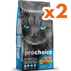 Pro Choice - Pro Choice Pro34 Salmon Somonlu Kedi Maması 2 Kgx2 Adet