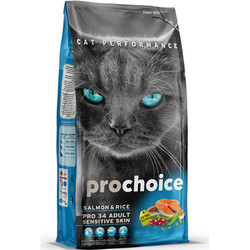 Pro Choice - Pro Choice Pro34 Somonlu Yetişkin Kedi Maması 15 Kg+10 Adet Temizlik Mendili