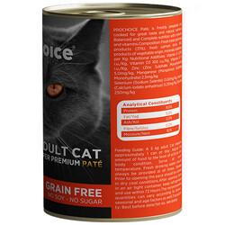 Pro Choice Salmon Somon Etli Tahılsız Kedi Konservesi 400 Gr - Thumbnail