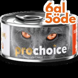 Pro Choice - Pro Choice Pate Salmon Somon Etli Tahılsız Ezme Kedi Konservesi 80 Gr - 6 Al 5 Öde
