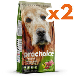 Pro Choice - Pro Choice Senior Lamb Rice Kuzu Etli Yaşlı Köpek Maması 12 Kg x 2 Adet