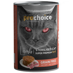 Pro Choice - Pro Choice Sterilised Lamb Kuzu Etli Tahılsız Kısırlaştırılmış Kedi Konservesi 400 Gr