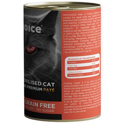 Pro Choice Sterilised Lamb Kuzu Etli Tahılsız Kısırlaştırılmış Kedi Konservesi 400 Gr