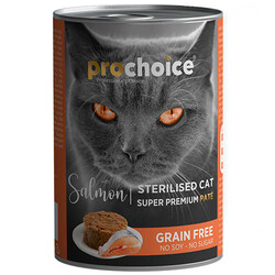 Pro Choice - Pro Choice Sterilised Somon Etli Tahılsız Kısırlaştırılmış Kedi Konservesi 400 Gr