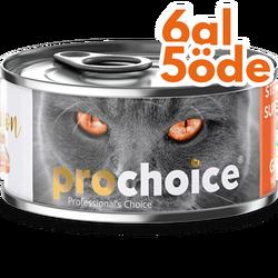 Pro Choice - Pro Choice Sterilised Pate Somon Etli Tahılsız Kısırlaştırılmış Ezme Kedi Konservesi 80 Gr - 6 Al 5 Öde