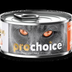 Pro Choice - Pro Choice Sterilised Pate Somon Etli Tahılsız Kısırlaştırılmış Ezme Kedi Konservesi 80 Gr