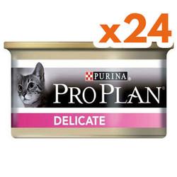 Pro Plan - Pro Plan Delicate Hassas Hindi Etli Kedi Konservesi 85 Gr ( 24 Adet x 85 Gr )