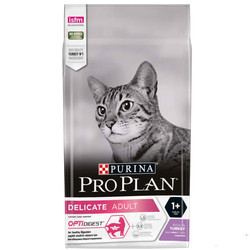 Pro Plan - Pro Plan Delicate Hindili Hassas Sindirimli Kedi Maması 1,5 Kg+100 Gr Yaş Mama