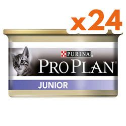 Pro Plan - Pro Plan Junior Tavuk Etli Yavru Kedi Maması 85 Gr-(24 Adetx85 Gr)