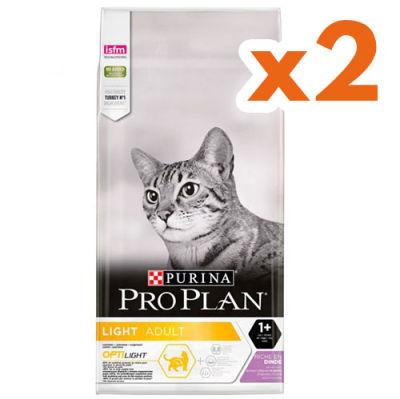 Pro Plan Light Düşük Kalorili Hindi Etli Kedi Maması 3 Kg x 2 Adet