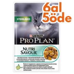 Pro Plan - Pro Plan Pouch Kısırlaştırılmış Balıklı Yaş Kedi Maması 85 Gr - 6 Al 5 Öde