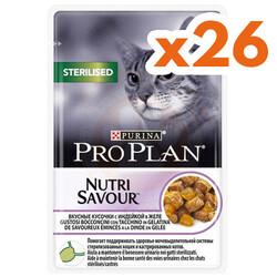 Pro Plan - Pro Plan Pouch Kısırlaştırılmış Hindili Yaş Kedi Maması 85 Gr ( 26 Adet x 85 Gr )