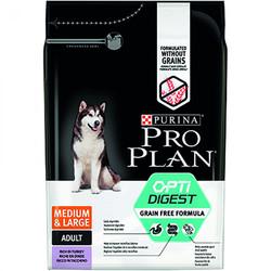 Pro Plan - Pro Plan Sensitive Hassas Hindi Orta ve Büyük Irk Tahılsız Köpek Maması 2,5 Kg+5 Adet Temizlik Mendili