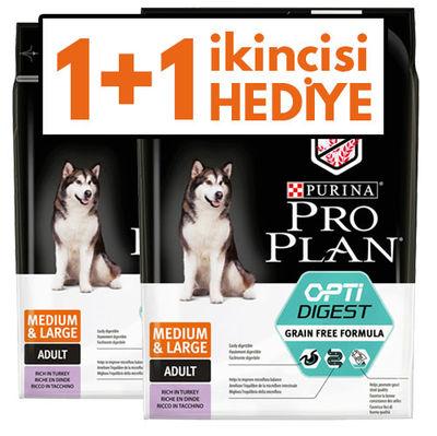 Pro Plan Sensitive Hassas Hindi Orta ve Büyük Irk Tahılsız Köpek Maması 2,5 Kgx2 Adet
