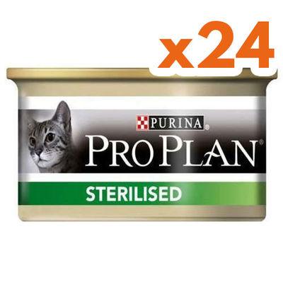 Pro Plan Sterilised Ton ve Somonlu Kısırlaştırılmış Kedi Konservesi 85 Gr ( 24 Adet x 85 Gr )