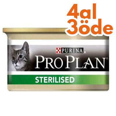 Pro Plan Sterilised Ton ve Somonlu Kısırlaştırılmış Kedi Konservesi 85 Gr - 4 Al 3 Öde