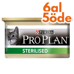 Pro Plan - Pro Plan Sterilised Ton ve Somonlu Kısırlaştırılmış Kedi Konservesi 85 Gr - 6 Al 5 Öde